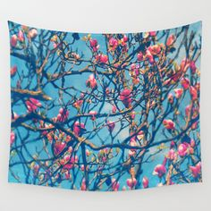 Buy Spectacular Pink Grace: Oriental Magnolia by Paula Belle Flores as a high quality Wall Tapestry. Worldwide shipping available at Society6.com. Just…