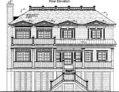 A 4 Bedroom, 3 Bath Traditional House Plan. Ask us about customization!