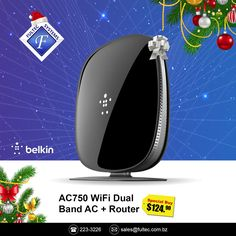 🎄Tech the Halls - Christmas Sale🎁 Improve your movie streaming and online gaming this Christmas with speeds up to 300Mbps + 433Mbps. #FultecSystems #TechtheHalls #ChristmasSale #Belkin #WiFi #Routers