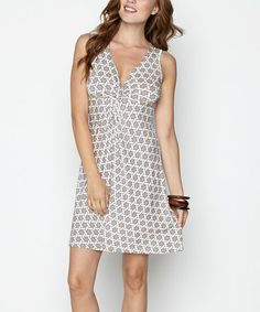Another great find on #zulily! Tan & Cream Lattice Brooklyn Dress #zulilyfinds