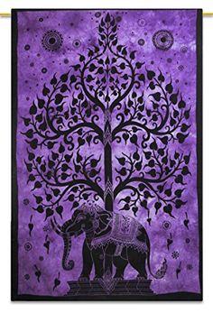 """Handicrunch  lila Baum indischen Baumwollteppich Hänge Dekor böhmischen Gobelins 84 """"x 56"""" Indianbeautifulart http://www.amazon.de/dp/B00RP2FH4K/ref=cm_sw_r_pi_dp_kE7kwb0KRS9C0"""
