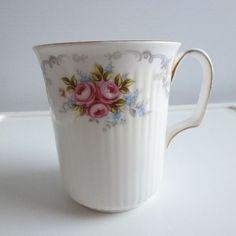 Mug Fine Bone China by Royal Albert Tranquillity Pink by TrashMaMa, $13.00