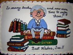 Retirement Decoration Ideas Best Of Retiring Librarian Retirement Cakes Retirement Celebration, Retirement Cakes, Retirement Parties, Retirement Ideas, Retirement Party Decorations, Princess Party Decorations, Small Dining Room Furniture, Library Cake, Leather Sofa Decor