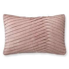Pleated Velvet Pillow Cover, Blush #williamssonoma
