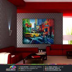 Obra destacada en nuestro magazine, una mirada innovadora a Nueva York. #ArteYa Obra: Avenida Nueva York Autor: Jhosse Medidas: 130 cm x 110cm