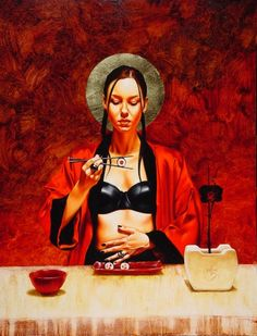 Painting by Italian artist Saturno Butto