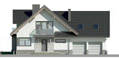 Unique Country House Plan With Four Bedrooms And Three Bathrooms - House And Decors Dream Home Design, Home Design Plans, House Design, Modern Architectural Styles, Office Building Architecture, Brick Accent Walls, Looking For Houses, French Country House Plans, Construction Design