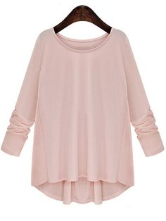 Shop Pink Round Neck Long Sleeve Bow Loose Blouse online. SheIn offers Pink Round Neck Long Sleeve Bow Loose Blouse & more to fit your fashionable needs.