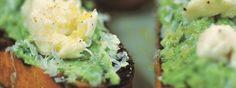 crushed peas and mozzarella toast - Gordon Ramsay