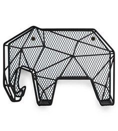 LEF collections Brievenhouder organizer Olifant zwart metaal L20xH14,7xD8,8cm…