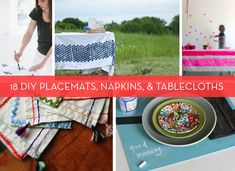 Roundup: 18 DIY Ideas for Placemats, Napkins, and Tablecloths » Curbly | DIY Design Community