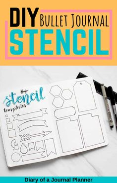 This is the ultimate guide to creating your own DIY bullet journal stencil, so you can simplify your bullet journal process and make sure it's even throughout! Bullet Journal Layout Templates, Bullet Journal Contents, Bullet Journal Stencils, Bullet Journal Printables, Bullet Journal For Beginners, Bullet Journal Hacks, Bullet Journal How To Start A, Bullet Journals, Planner Pages