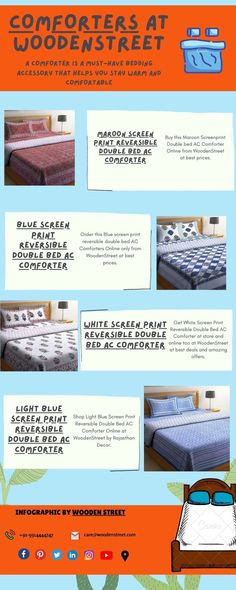 Get Comforters online in India from WoodenStreet at best offers#comforters #bedcomforters #comfortersonline #cottoncomforters #accomforters #summercomforters #bestcomforters Cool Comforters, Comforters Online, Wooden Street, Buy Bed, Black Screen, Shop Lighting, Cotton Bedding, Double Beds, Comforter Sets