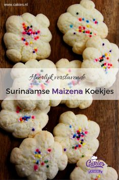 Making your own Surinamese Cornstarch Cookies really isn't that hard and it's fun as well. This is an ideal recipe to make with kids. Gluten Free Cookies, Gluten Free Desserts, Cake Cookies, Sugar Cookies, Speculoos Cookies, Spritz Cookies, Cupcakes, Cornstarch Cookies, Baking Recipes