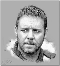 Pencil Portrait Mastery - Russell Crowe by shahin - Discover The Secrets Of Drawing Realistic Pencil Portraits