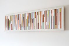 Wood Wall Art Sculpture, skinny wood pieces - featured on ApartmentTeraphy.Com Fall SALE 25 % off