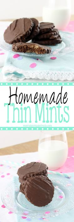 Girl Scout cookie season is only once a year, but you can enjoy one of my favorites with this easy Homemade Thin Mints recipe!   EverydayMadeFresh.com