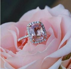 The pink diamond is very rare and highly sought after...as it should be.