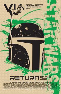 Boba Fett - Star Wars Poster Series by Kegan Rivers, via Behance
