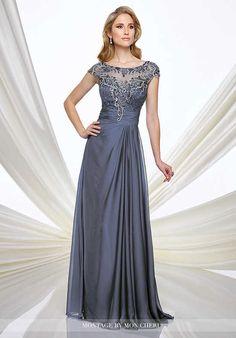 Bon Montage By Mon Cheri 216968 Blue Mother Of The Bride Dress