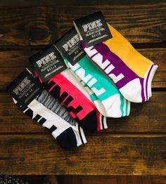 New! New Design ! Sock size (5-7) women's Machine washable. 4 pairs. Pink Socks, Pink Accessories, Vs Pink, Victoria Secret Pink, Pink Ladies, Pairs, Hosiery, Design, Socks
