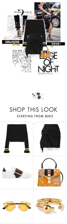 """""""On the edge of summer."""" by sa3ina ❤ liked on Polyvore featuring Zadig & Voltaire, 3.1 Phillip Lim, Marques'Almeida, Burberry, Gucci, Christian Dior, Maria Black and Karen Walker"""