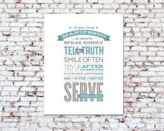 Personalized Typography Print 11x14 by PearentheticalPress
