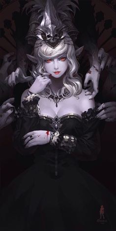 "moonlightgear: "" gameraddictions: ""artist: Yan Gisuka "" Lake of Amazing Art "" Dark Fantasy Art, Fantasy Girl, Fantasy Women, Fantasy Artwork, Character Inspiration, Character Art, Character Concept, Illustration Design Graphique, Vampire Art"