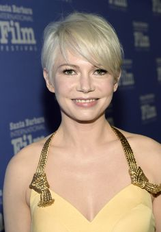 Michelle Williams Messy Cut - Michelle Williams wore her short blonde hair slightly tousled during the Santa Barbara International Film Festival.