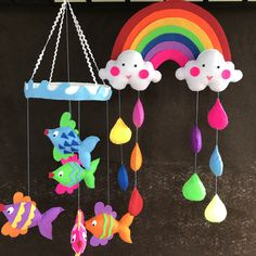 S&S Creations - Baby room decor, felt, Cot mobile, busy book in Sri Lanka Felt Name Banner, Name Banners, Kids Activity Books, Activities For Kids, Cot Mobile, Rainbow Cloud, Colorful Fish, Busy Book, Craft Business