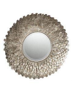 Alice Lane Home Collection » Metal Feather Wall Mirror