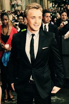 I love dressed up guys! Tom Felton