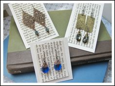 DIY Earring Cards that won't break the bank! « Rings and Things blog