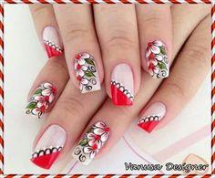 Imagenes Fabulous Nails, Gorgeous Nails, Pretty Nails, Perfect Nails, Fingernail Designs, Cute Nail Designs, Flower Nail Art, Beautiful Nail Art, Creative Nails