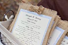 Burlap Wedding Programs