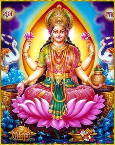 Lakshmi is mentioned once in Rigveda, where it means kindred mark or sign of auspicious fortune Lakshmi hindu art Lakshmi wealth Lakshmi goddesses Lakshmi haram Lakshmi tanjore painting Lakshmi vaddanam Lakshmi bangle Lakshmi decoration Lakshmi necklace Lakshmi Photos, Lakshmi Images, Divine Mother, Mother Goddess, Shri Ganesh, Lord Ganesha, Krishna, Lord Durga, Lord Shiva