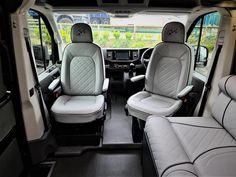 VW Crafter Sporthome - 4 Motion - Elevating Roof - Mclaren Sports Homes Ltd | Luxury Sporthome & Motorhome Conversions Van Conversion Furniture, Vw Camper Conversions, Black Rhino Wheels, Mercedes Sprinter Camper, Luxury Van, Vw Crafter, Van Camping, Campervan, Van Life