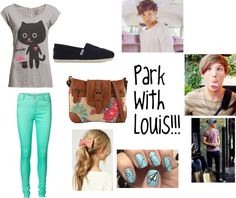 """Park With Louis Tomlinson!!"" by alina-tomlinson ❤ liked on Polyvore"