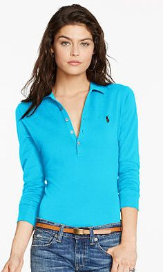 Long-Sleeve Stretch Polo - Personalization Polo Shirts - RalphLauren.com