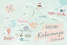 Block Party: Kalamaja neighborhood in Tallinn, Estonia | @saltandwind | www.saltandwind.com | map by @charmagnek