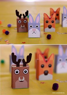 Raisin boxes, fold them yourself! Kids Party Treats, Birthday Party Treats, Diy And Crafts, Crafts For Kids, Bear Party, Paper Animals, Animal Birthday, Woodland Party, Pet Gifts