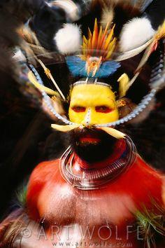 Portrait of Huli man, Papua New Guinea