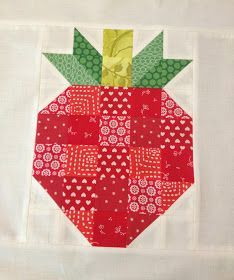 Skyberries Handmade: Patchwork Strawberry Block - A Tutorial Quilting Tutorials, Quilting Projects, Quilting Designs, Sewing Projects, Sewing Tips, Sewing Tutorials, Sewing Ideas, Craft Projects, Quilt Block Patterns