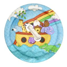 """Photo from album """"Noah's Ark"""" on Yandex. Jar Lid Crafts, Decoupage, Fiesta Baby Shower, Free Digital Scrapbooking, Digital Papers, Cute Clipart, Expecting Baby, Baby Scrapbook, Blogger Templates"""