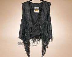 Small Beaded Lamb Skin Leather Dance Vest (s6)