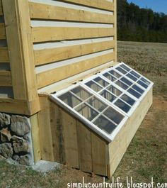 Ideal for a outside wall of hen house for when wanting to separate chickens.....when one is ill or when flock has been picking on one....or when one is brooding.....or for a flock of chicks for a brooder......Only instead of glass windows put an old screen door or frame in hardware cloth.