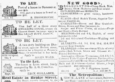 "Old classified ads, published in the Salem Gazette newspaper (Salem, Massachusetts), 19 November 1833. Read more on the GenealogyBank blog: ""4 Tips for Genealogy Research with Historical Newspapers."" http://blog.genealogybank.com/4-tips-for-genealogy-research-with-historical-newspapers.html"