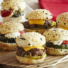 Mini Wagyu Burgers with Blue Cheese Goug | American Wagyu Association