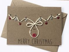 weihnachtskarten selber basteln coole weihnachtsbasteleien You are in the right place about gifts de Christmas Card Crafts, Homemade Christmas Cards, Christmas Wrapping, Homemade Cards, Holiday Crafts, Reindeer Christmas, Christmas Cards For Kids, Handmade Christmas Crafts, Chrismas Cards