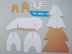Зимние поделки из картона в подготовительной группе детского сада